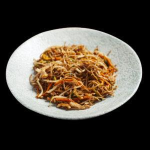 piatto di noodles niku soba