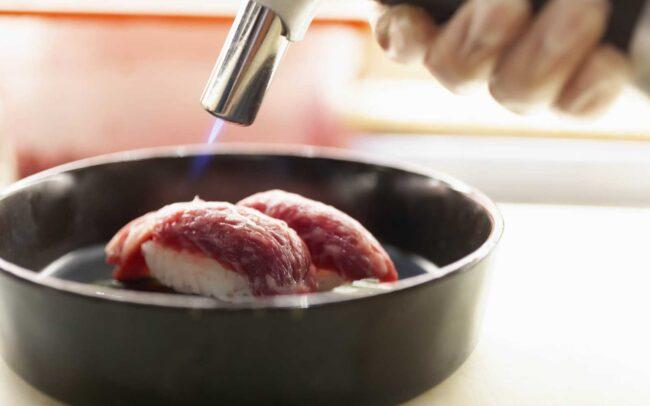 nigiri di carne wagyu