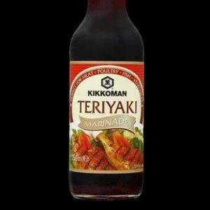 bottiglia con salsa Teriyaki kikkoman da 250 ml.