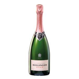 bottiglia di champagne bollinger brut rose
