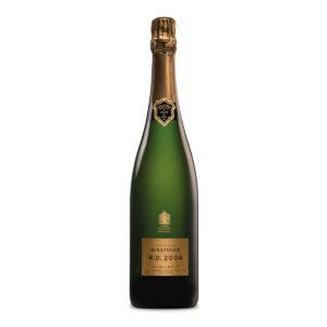 bottiglia di champagne bollinger rd 2004
