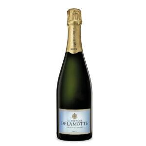 bottiglia di champagne delamotte brut