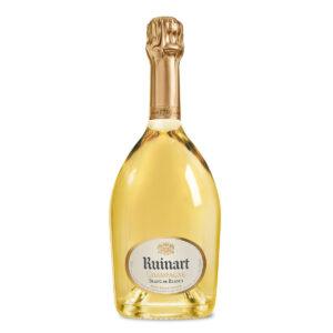 bottiglia di champagne ruinart blanc de blancs